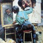 clown self portrait